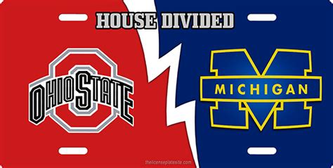 house divided license plate ohio state michican house divided license plate license