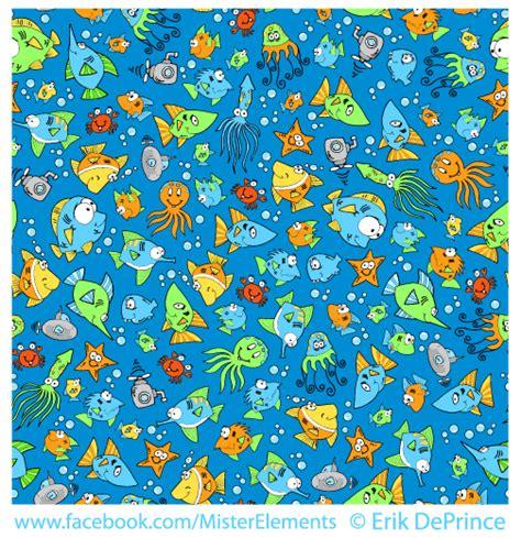 cute ocean pattern cute ocean critters seamless pattern by erikdeprince on