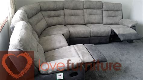 Fabric Corner Recliner Sofa Grey Corner Sofa Recliner Okaycreations Net
