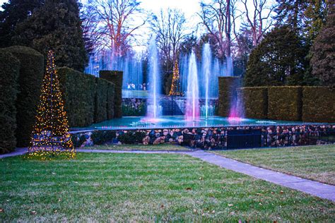 holiday lights at longwood gardens photograph by william