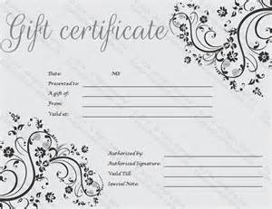 fancy gift certificate template gift certificate template print paper templates