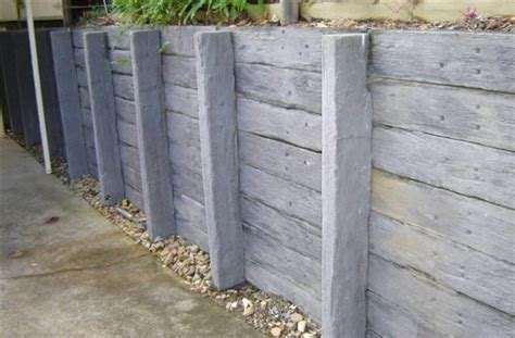 Concrete Sleeper Retaining Walls Price by Australian Retaining Walls Concrete Sleeper Retaining