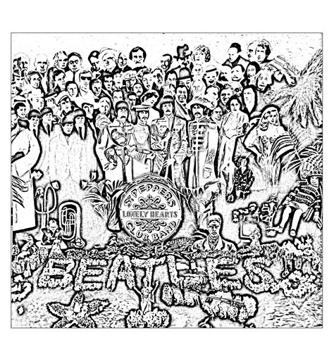 coloring book album the beatles sgt peppers lonely hearts club band