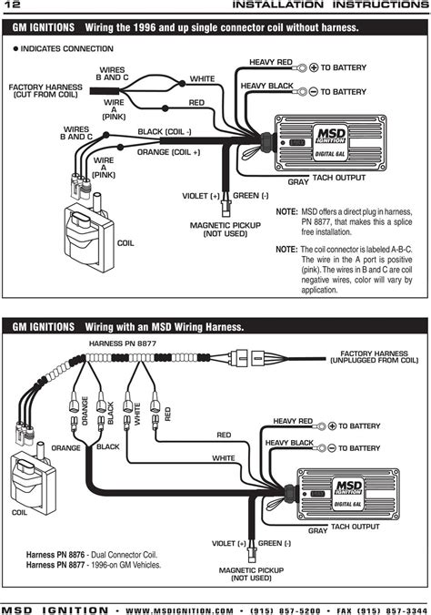 msd 6425 wiring harness