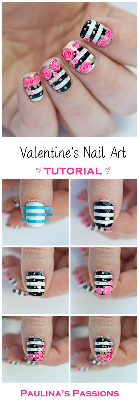 nail art design tutorial videos valentine s roses nail art tutorial paulina s passions