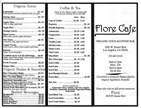 quarrygirl.com » Blog Archive » new flore cafe menu 2