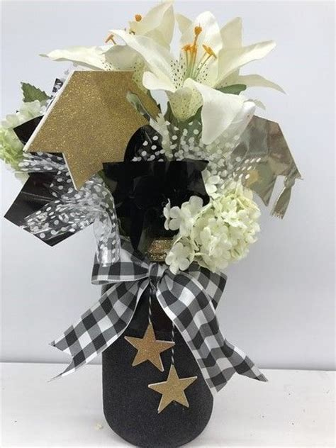 best 25 black and gold centerpieces ideas on