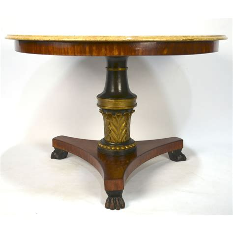 Claw Foot Pedestal Table Empire Painted Claw Foot Pedestal Base Center