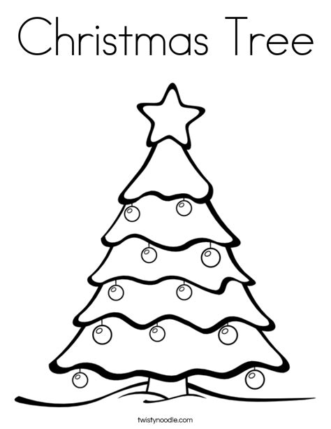 coloring pages of xmas tree christmas tree coloring page twisty noodle