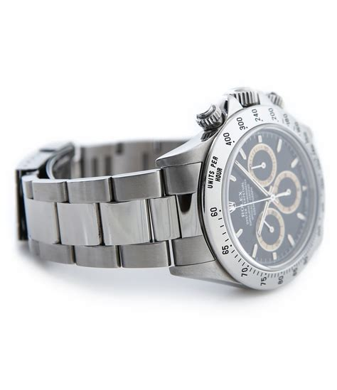 buy stainless steel rolex cosmograph daytona with patrizzi dial 16520 buy it now