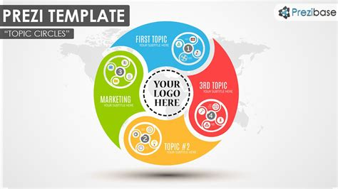 Circle Diagram Colorful Ideas Infographic Prezi Template Prezi Templates Pinterest Circle Prezi Template Ideas