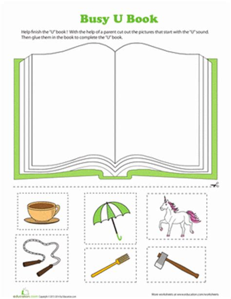letters and lessons for the books u book worksheet education