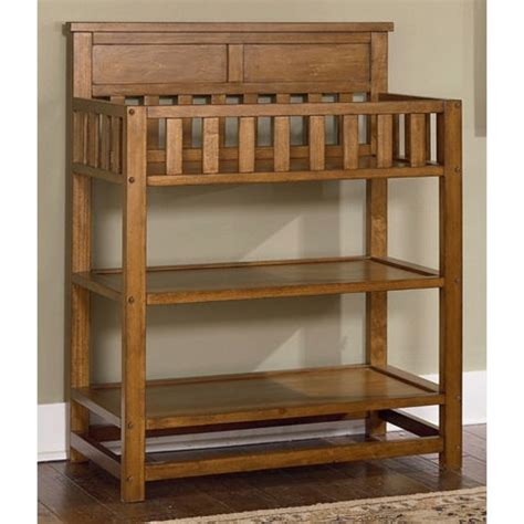 Changing Table Oak Bassett Baby River Ridge Changing Table In Oak 5598 D787