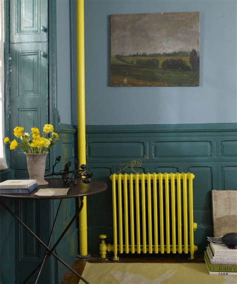 painting heaters and cast iron radiators stylish accents in retro style