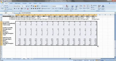 survey template exles sle excel survey template survey spreadsheet template