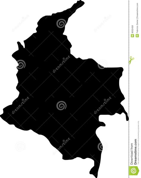 colombia vector map vector map of colombia royalty free stock photos image