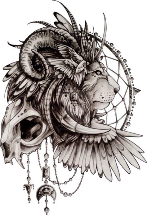 tattoo 3d png lion sketch tattoo shared by ari s on we heart it