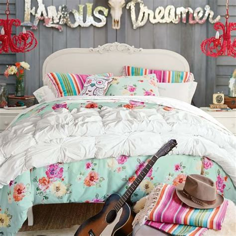 gypsy bedding junk gypsy country blooms duvet cover sham pool pbteen