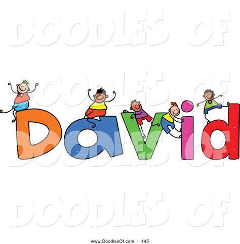 doodle name dave vector clipart of a childs sketch of smiling boys