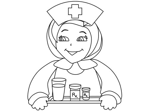nurse coloring pages for kids coloring home