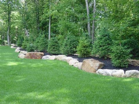 berm landscaping ideas berm with large boulders