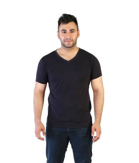 Navy Vneck Sleeve Tshirt Cotton acomharc inc navy cotton half sleeves v neck t shirt buy acomharc inc navy cotton half sleeves