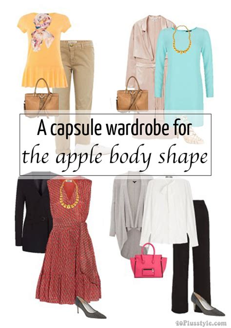 a capsule wardrobe for the apple shape 40 style