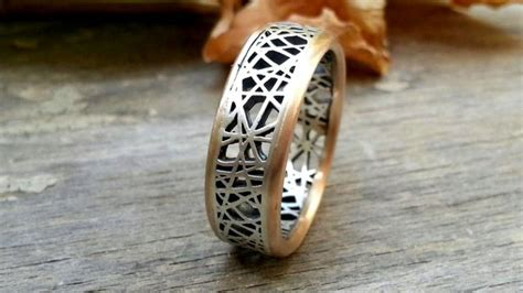Two Metal Wedding Rings by Mixed Metal Wedding Ring Two Tone Band S Wedding Band