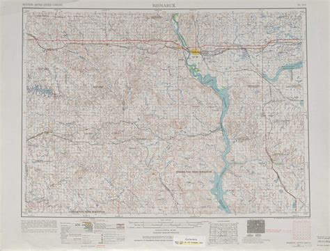 nd road map bismarck topographic maps nd usgs topo 46100a1 at 1 250 000 scale
