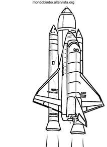disegni space shuttle da colorare mondo bimbo