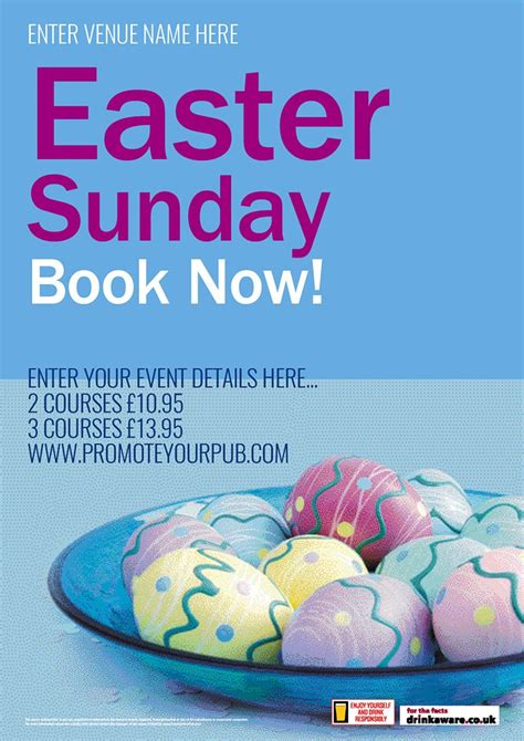 posters for easter easter sunday poster a2 promote your pub