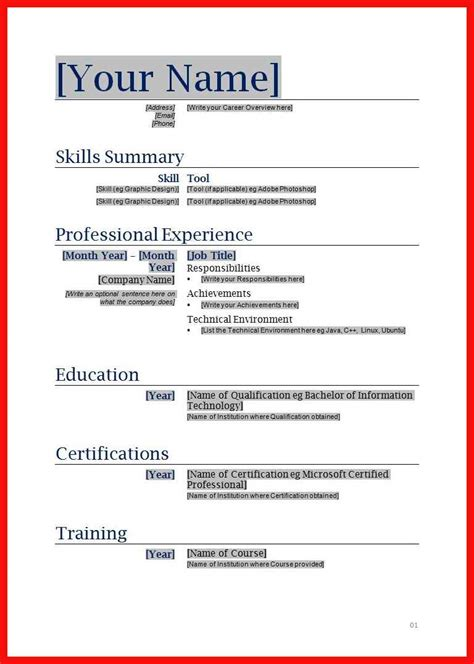Copy Paste Resume Format Apa Exle Copy Paste Resume Template