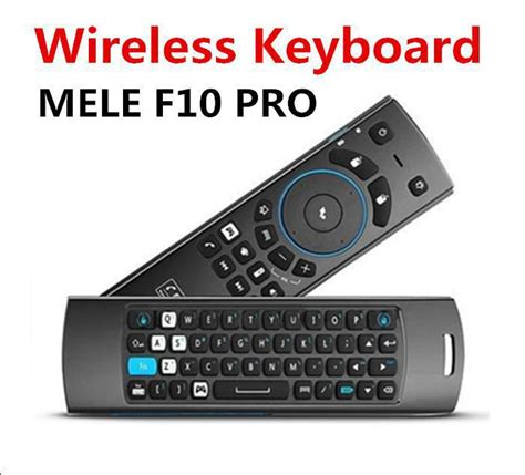android keyboard with microphone mele f10 pro 2 4ghz fly air mouse wireless remote keyboard microphone speaker for