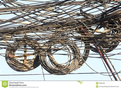 messy wires messy wires royalty free stock photos image 35887208