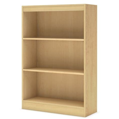 Maple Bookcase by South Shore Axess Cont Style 3 Shelf Maple