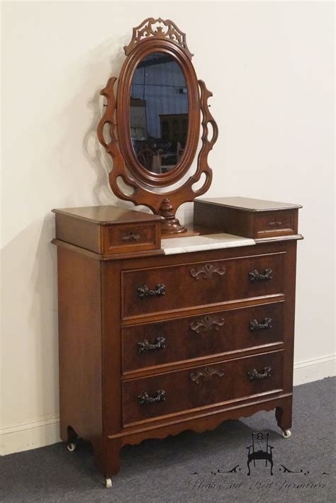 antique victorian dressers with mirrors victorian walnut marble antique victorian walnut dresser w marble top and ornate