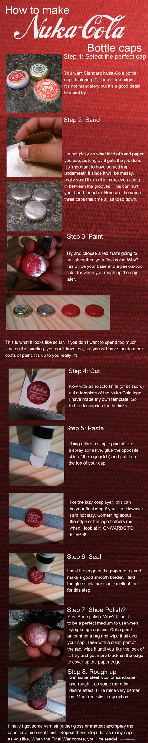 nuka cola cap template how to make nuka cola caps by appleofecstacy on deviantart