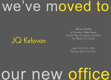 we ve moved template business moving announcements moving business announcement