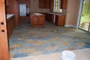 Slate Kitchen Floor Slate Kitchen Flooring Afreakatheart