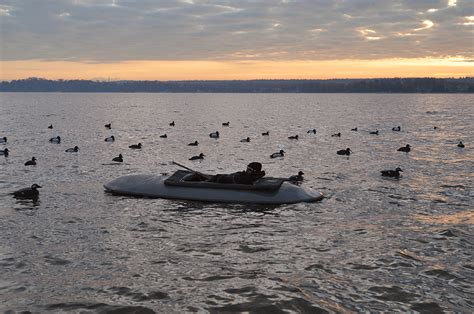 layout boat diver hunting waterfowl tactics try duck hunting from a layout boat