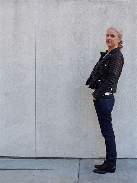 Lady Biker Wear Over 50 | lisa from amid privilege talks about style for women over 40