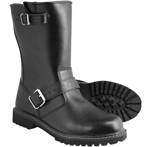 black motorbike boots black leather motorbike custom waterproof breathable
