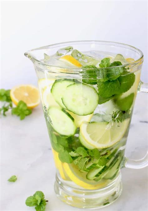 Cucumber And Mint Water Detox cucumber detox spa water with lemon and mint ciaoflorentina