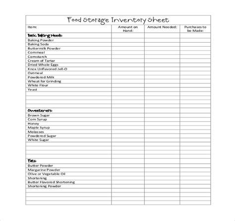 food inventory template excel restaurant inventory template 17 free word excel