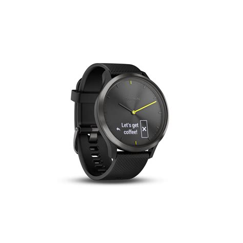 Garmin Vivomove Sport Black garmin v 237 vomove hr sport black with black silicone band large activetri