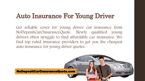 affordable young driver car insurance quotes