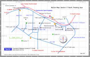 malaysia central mycen maps map of section 17