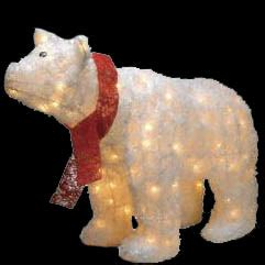 Light Up Polar Decoration by Indoor And Outdoor Lighted Decorations