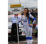 MG KX Momentum Racing Grid Girl At Thruxton