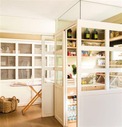 despensa y lavadero despensa con paredes de cristal 00417628 orden en casa